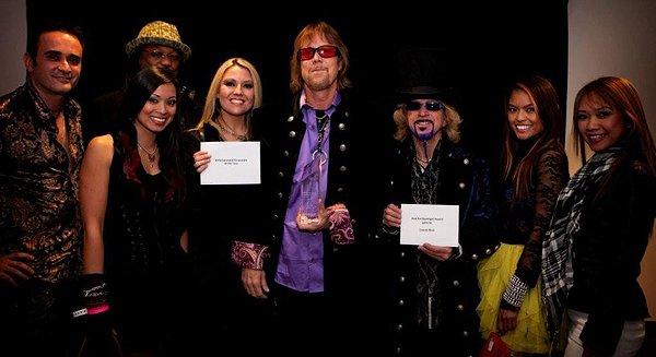 2011-02-28 Liquid Blue Band in Las Vegas NV Spotlight Award Photo Backstage
