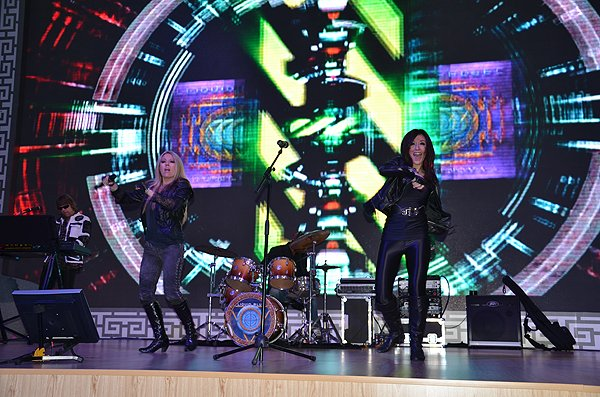 2011-10-21 Liquid Blue Band in Hangzhou China at Theme Exibition Hall 006