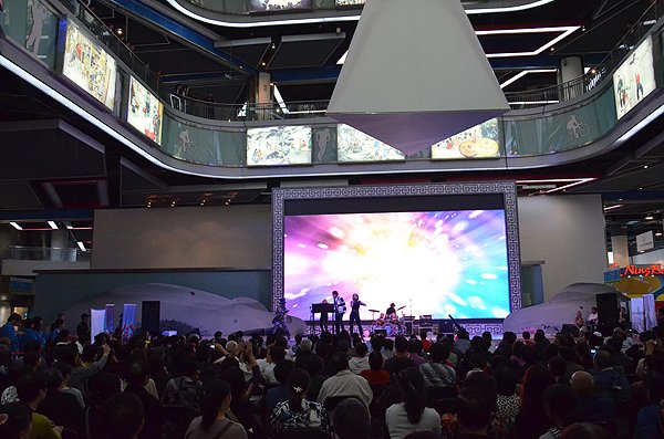 2011-10-21 Liquid Blue Band in Hangzhou China at Theme Exibition Hall 089