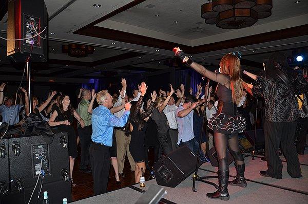 2012-02-02 Liquid Blue Band in La Quinta CA at La Quinta Resort 099