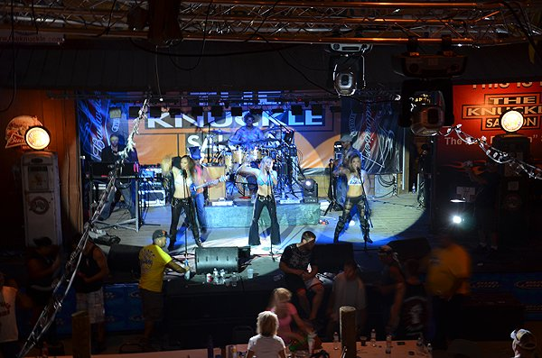 2012-08-08 Liquid Blue Band in Sturgis SD at The Knuckle Saloon 009