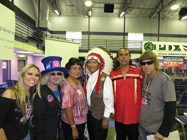 2012-09-04 Liquid Blue Band in Charlotte NC with relatives of Crazy Horse and Geronimo 1