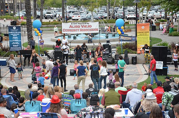 2013-07-21 Liquid Blue Band in Aliso Viejo CA at-Grand Park Town Center Amphitheater 028