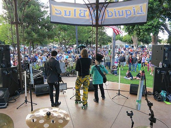 2013-07-28 Liquid Blue Band in Coronado CA at Spreckels Park 029