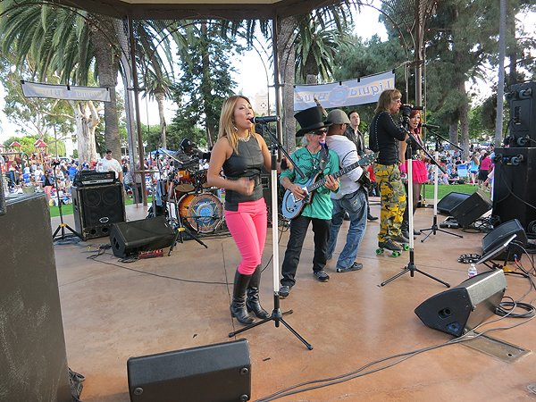 2013-07-28 Liquid Blue Band in Coronado CA at Spreckels Park 032