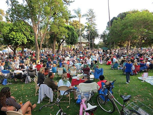 2013-07-28 Liquid Blue Band in Coronado CA at Spreckels Park 040