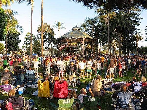 2013-07-28 Liquid Blue Band in Coronado CA at Spreckels Park 055