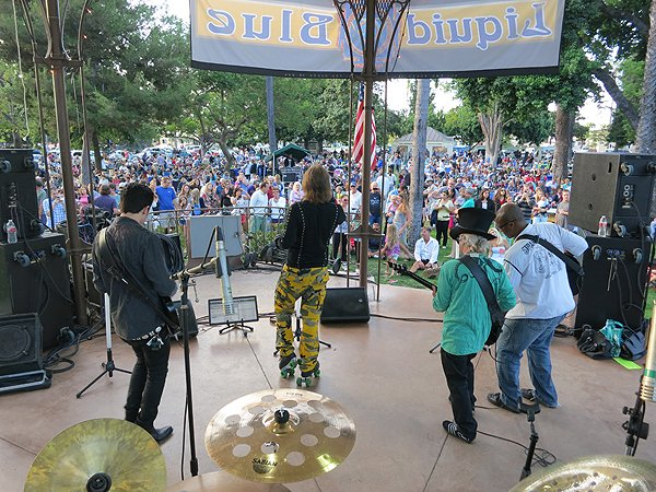 2013-07-28 Liquid Blue Band in Coronado CA at Spreckels Park 074