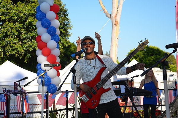 2014-07-03 Liquid Blue Band in Norwalk CA at City Hall Lawn 012