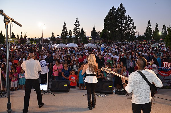 2014-07-03 Liquid Blue Band in Norwalk CA at City Hall Lawn 203