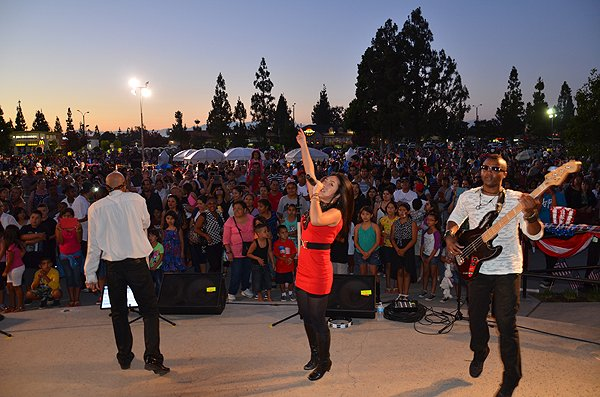 2014-07-03 Liquid Blue Band in Norwalk CA at City Hall Lawn 250