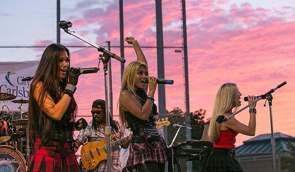 2014-07-25 Liquid Blue Band in Carlsbad CA at Pointsettia Park 400
