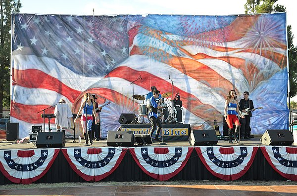 2015-07-03 Liquid Blue Band in Norwalk CA at City Hall Lawn 000