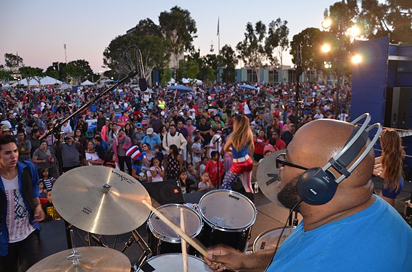 2015-07-03 Liquid Blue Band in Norwalk CA at City Hall Lawn 034