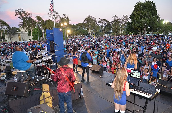 2015-07-03 Liquid Blue Band in Norwalk CA at City Hall Lawn 037