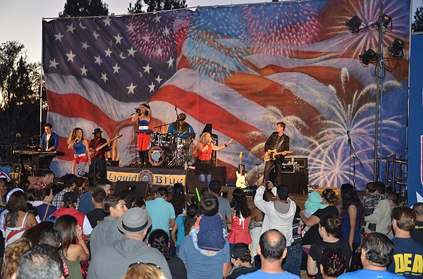 2015-07-03 Liquid Blue Band in Norwalk CA at City Hall Lawn 046