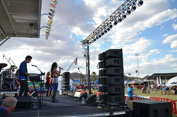 2015-07-04 Liquid Blue Band in Fort Irwin CA at Army Baseball Field 005