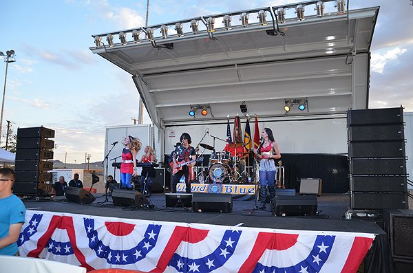 2015-07-04 Liquid Blue Band in Fort Irwin CA at Army Baseball Field 034