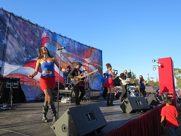 2016-07-03 Liquid Blue Band in Norwalk CA at City Hall Lawn 035
