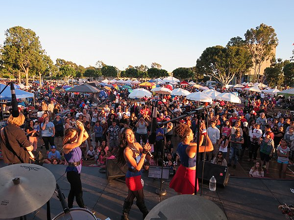 2016-07-03 Liquid Blue Band in Norwalk CA at City Hall Lawn 059