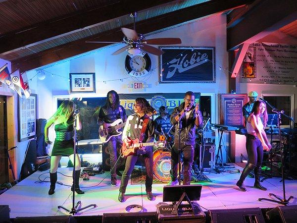 2016-08-13 Liquid Blue Band in Lake Arrowhead CA at Yacht Club 11