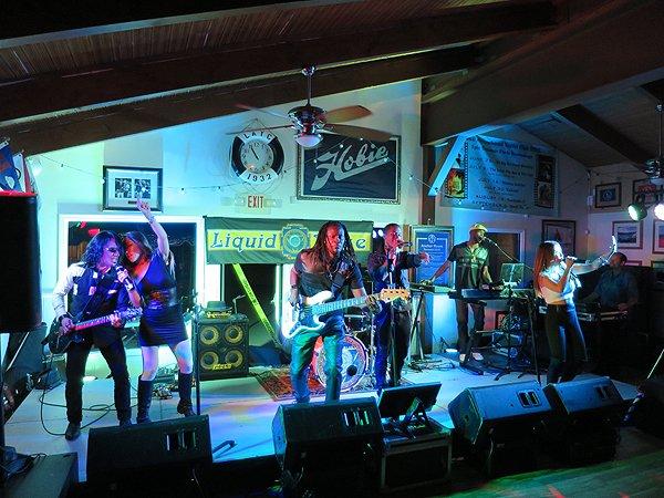 2016-08-13 Liquid Blue Band in Lake Arrowhead CA at Yacht Club 25