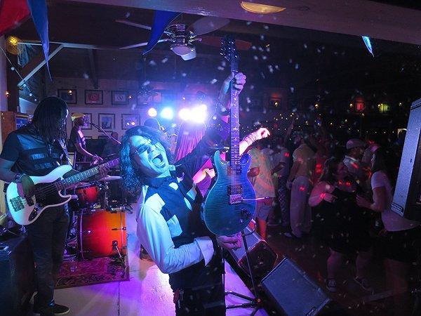 2016-08-13 Liquid Blue Band in Lake Arrowhead CA at Yacht Club 58