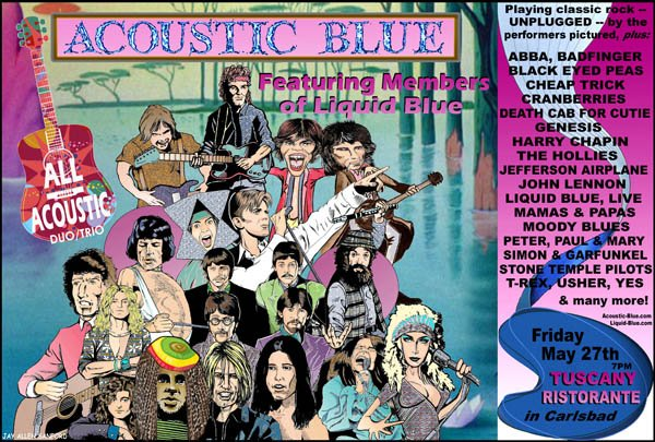 Acoustic Blue Poster