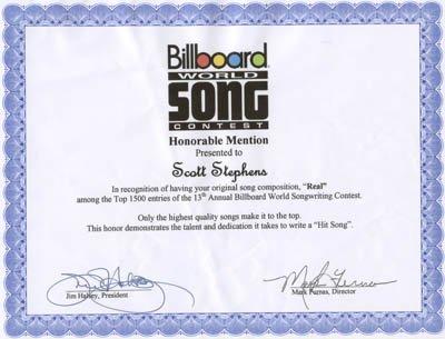 Billboard World Song Real