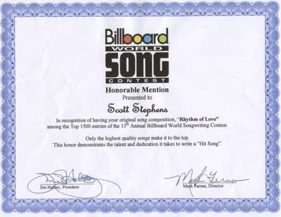 Billboard World Song Rhythm Of Love