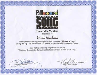 Billboard World Song Rhythm Of Love