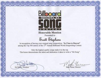 Billboard World Song So Close