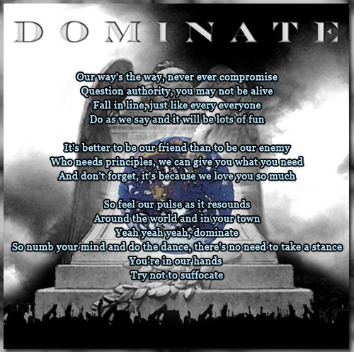 Lyric Art 18 Dominate
