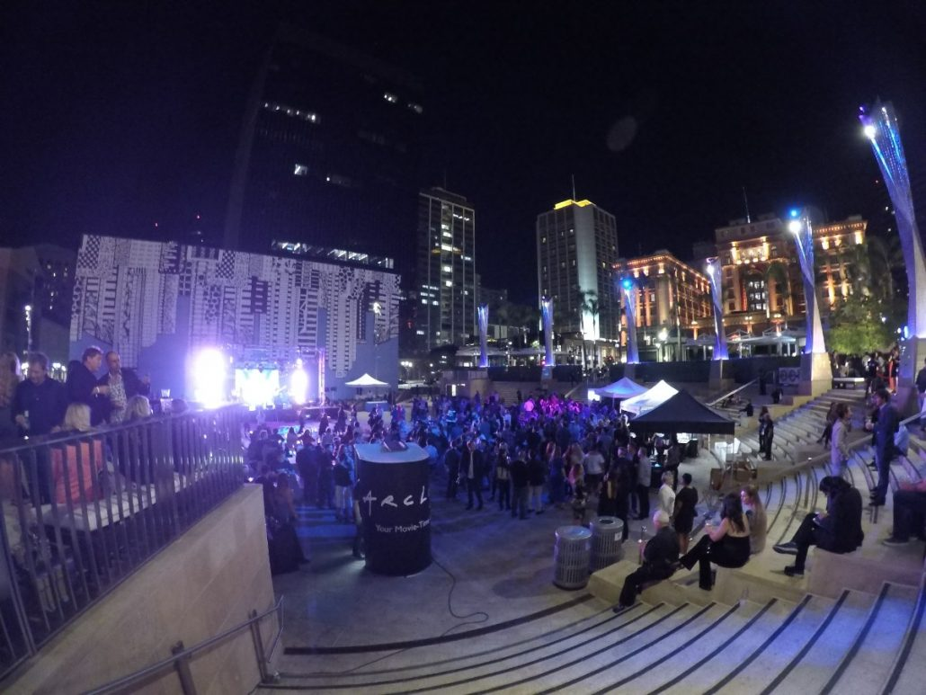 2017-10-06 Liquid Blue Band in San Diego CA at Horton Plaza (60)