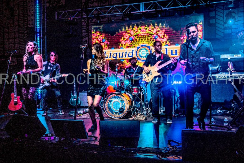 2017-10-06 Liquid Blue Band in San Diego CA at Horton Plaza Watermarked (1)