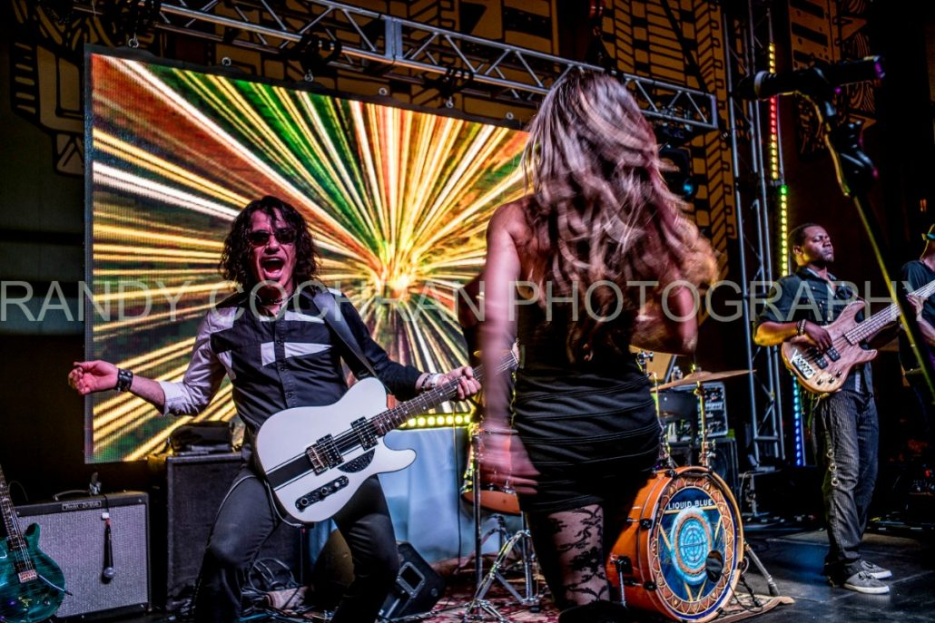 2017-10-06 Liquid Blue Band in San Diego CA at Horton Plaza Watermarked (2)