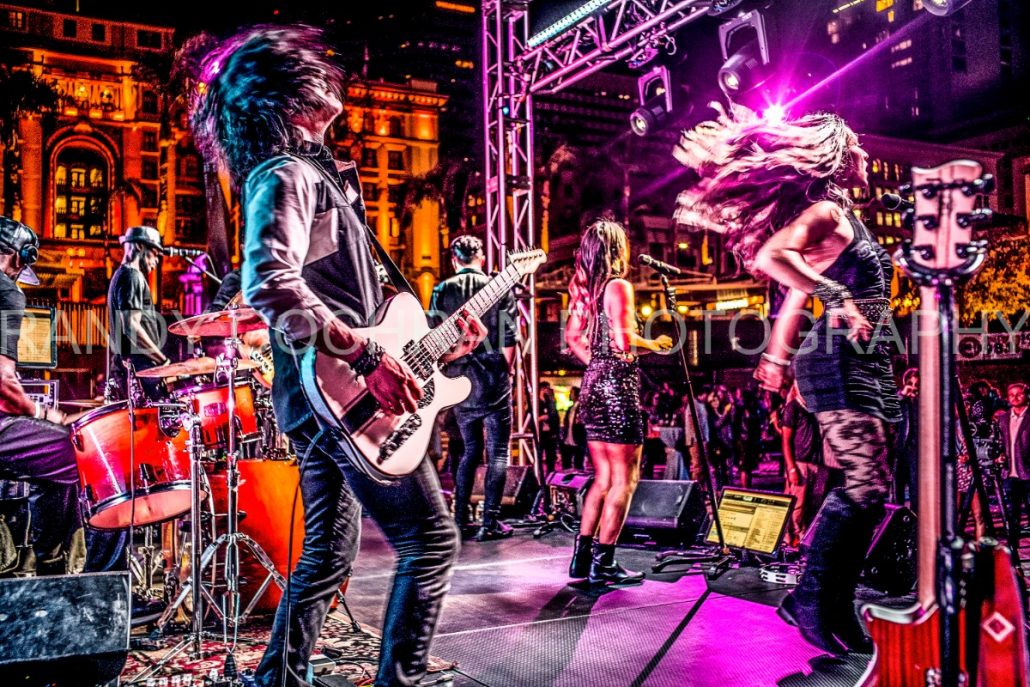2017-10-06 Liquid Blue Band in San Diego CA at Horton Plaza Watermarked (3)