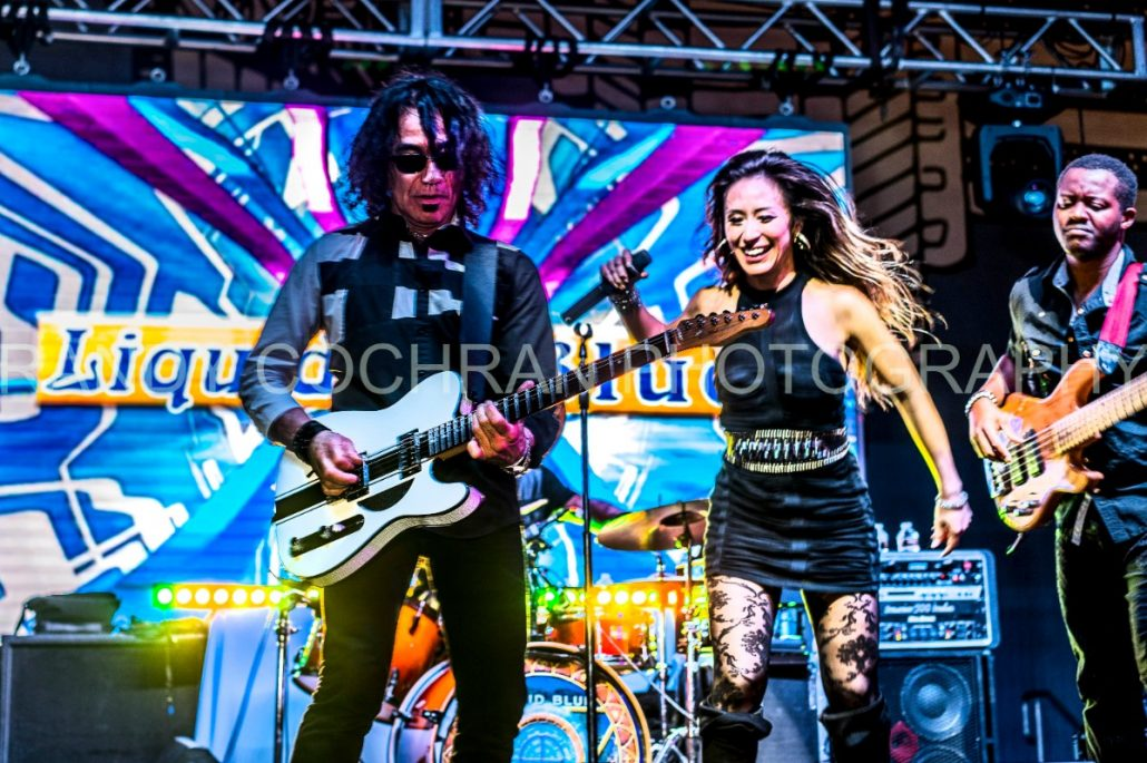 2017-10-06 Liquid Blue Band in San Diego CA at Horton Plaza Watermarked (5)