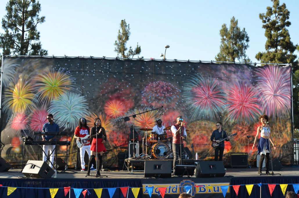 2018-07-03 Liquid Blue Band in Norwalk CA at City Hall Lawn (3)