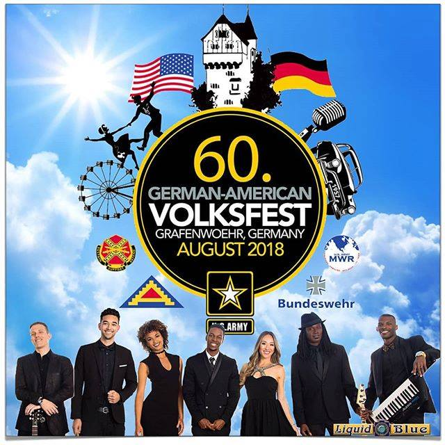 2018-08-02 Liquid Blue will be Performing at Volksfest in Germany