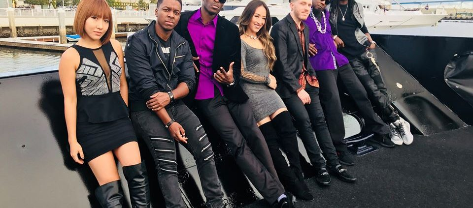Liquid Blue doing a show on a private yacht