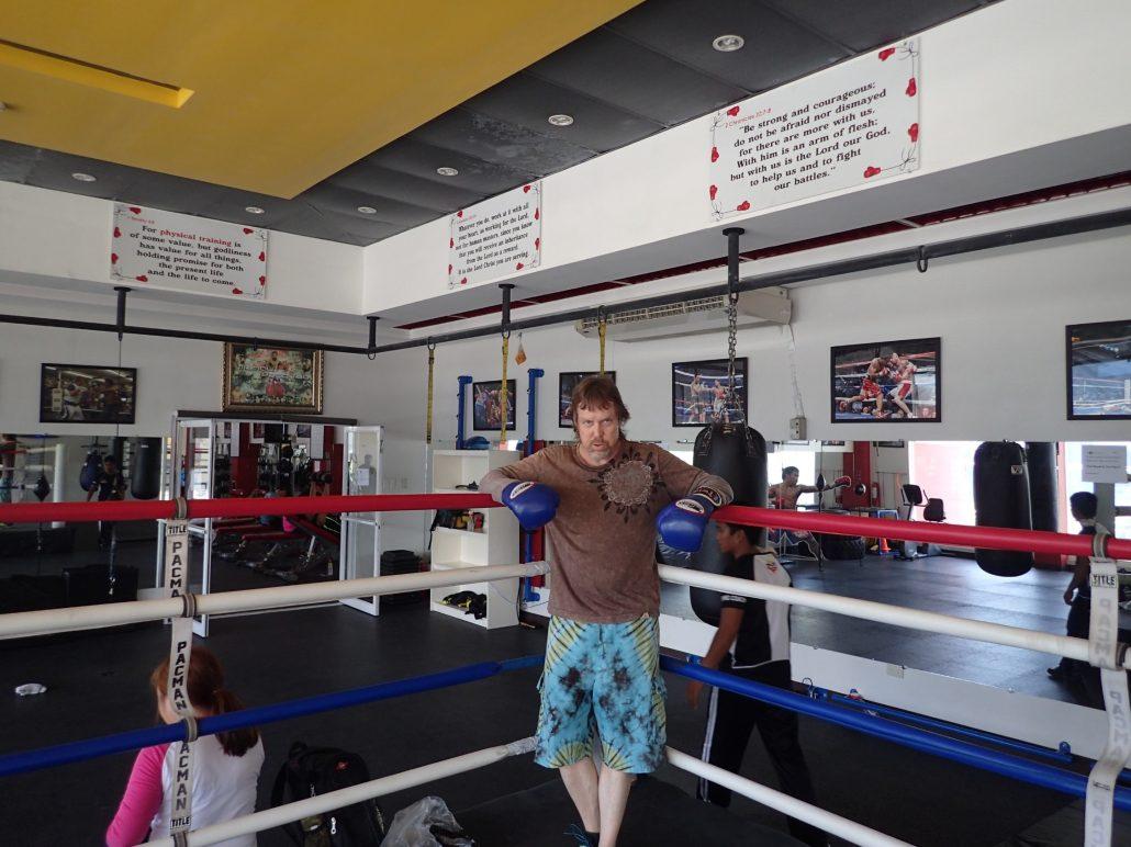 2016-07-14 Scott in Boxing Ring General Santos City Philippines
