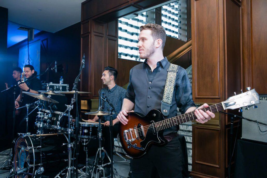 2019-03-09 Liquid Blue Band in Hong Kong China at The American Club Hong Kong (2)