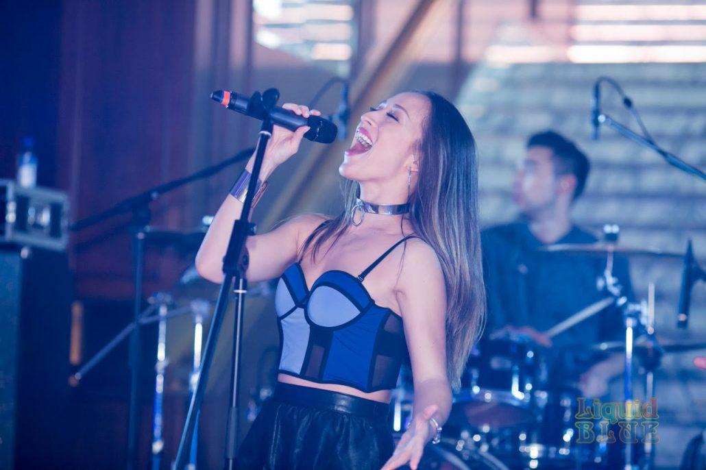 2019-03-09 Liquid Blue Band in Hong Kong China at The American Club Hong Kong (1)