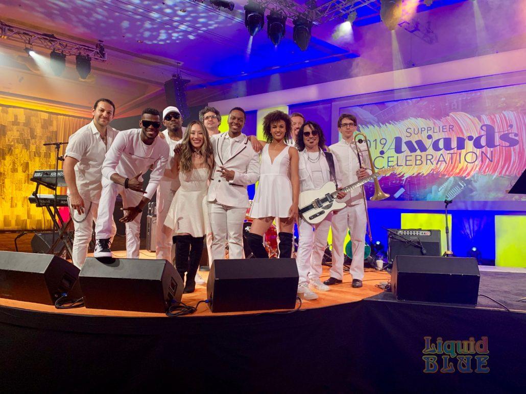 2019-04-03 Liquid Blue Band in Las Vegas NV at The Aria (2)