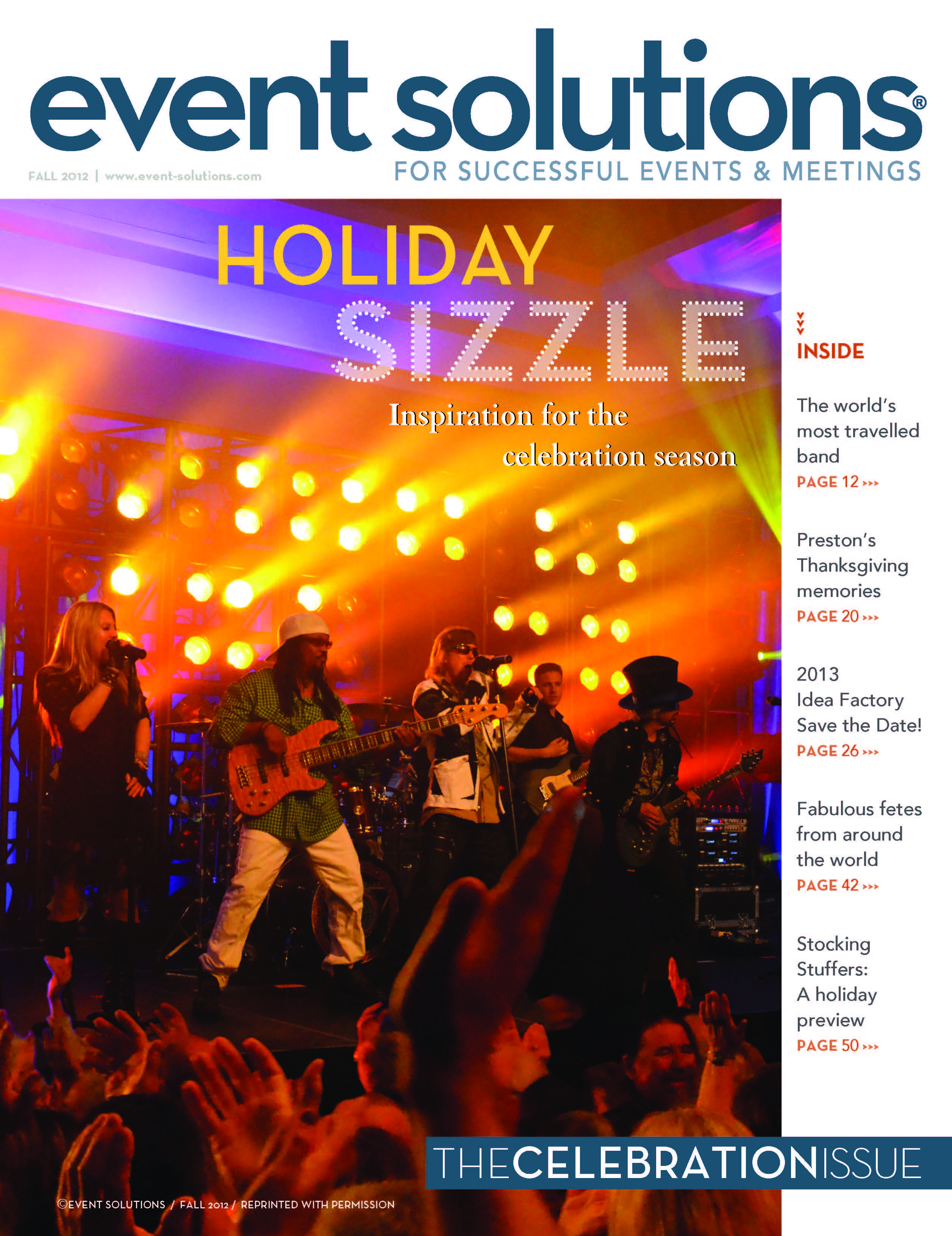 Event Solutions Cover Fall 2012