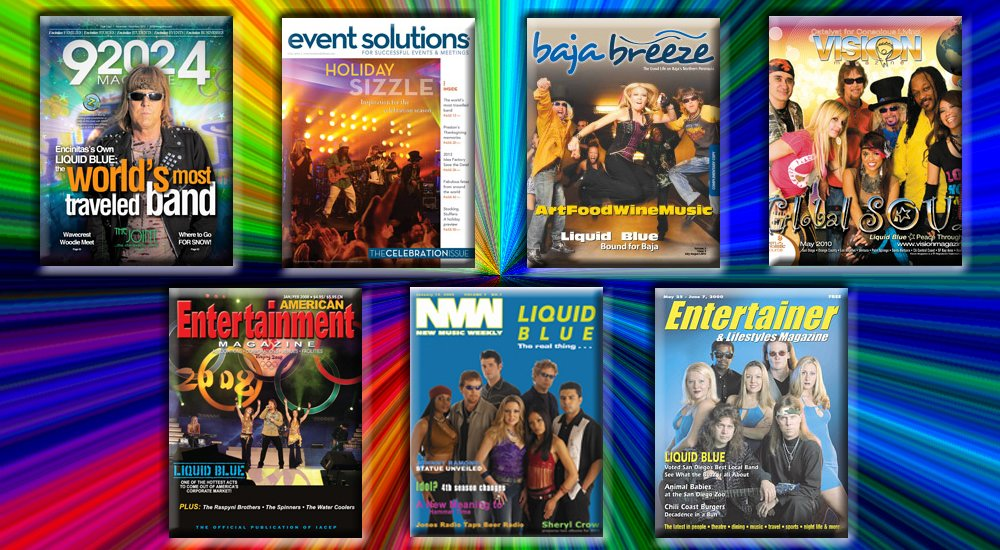 Liquid Blue Magazine Covers HighRes & Hire Party Bands & Wedding Music Band for Events
